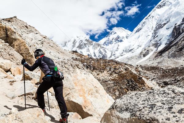 女性 ハイキング エベレスト ハイカー 徒歩 ストックフォト © blasbike