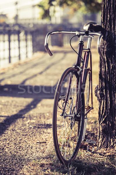 Bike road fixed gear bicycle Stock photo © blasbike
