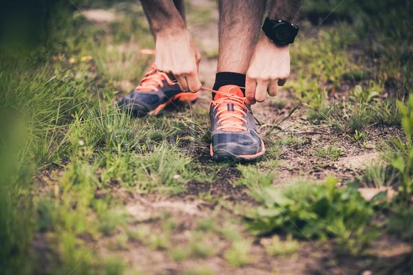 Stok fotoğraf: Koşucu · spor · ayakkabı · iz · adam · çalışma