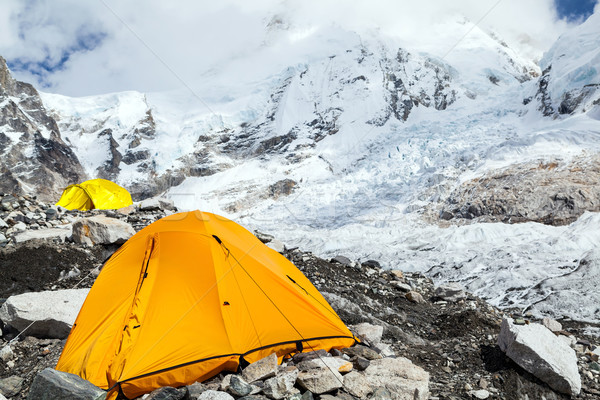 Stock photo: Everest Base Camp and tent