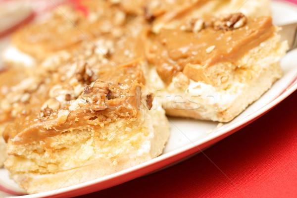 Walnut carmel cake Stock photo © blasbike