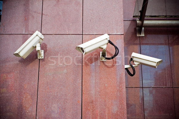 Security cameras on office building Stock photo © blasbike