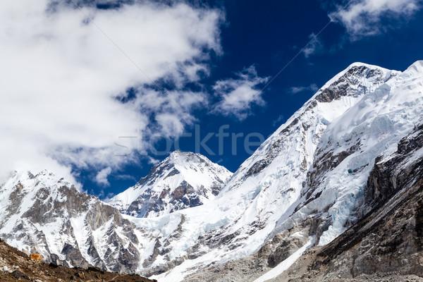 Himalaya Mountain Peaks, Inspirational Autumn Landscape Stock photo © blasbike