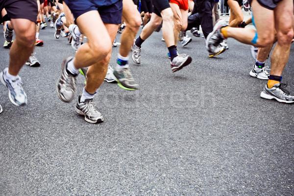 人 を実行して マラソン 街 市 通り ストックフォト © blasbike