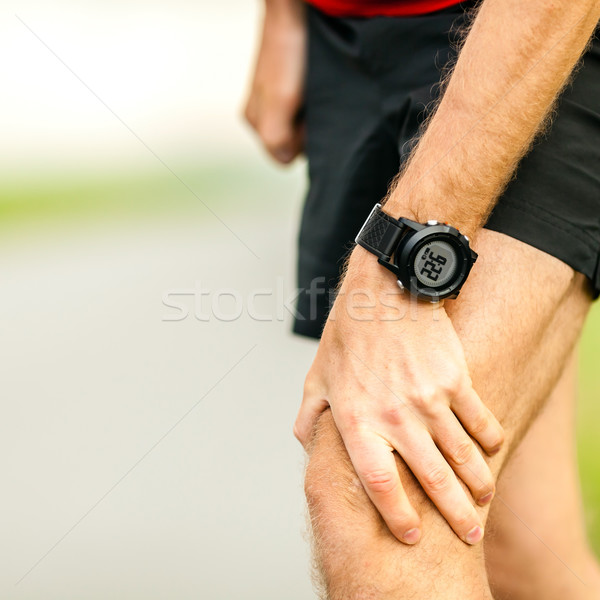Joelho dor corrida ferimento corredor em Foto stock © blasbike
