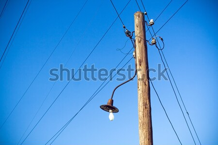 Electrical retro pylon over blue sky Stock photo © blasbike