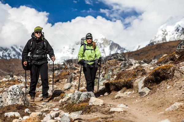 Coppia piedi escursioni himalaya montagna himalaya Foto d'archivio © blasbike