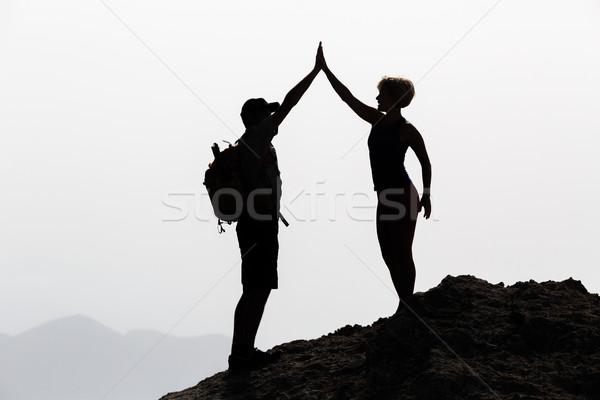 Feliz casal celebrar vida meta sucesso Foto stock © blasbike