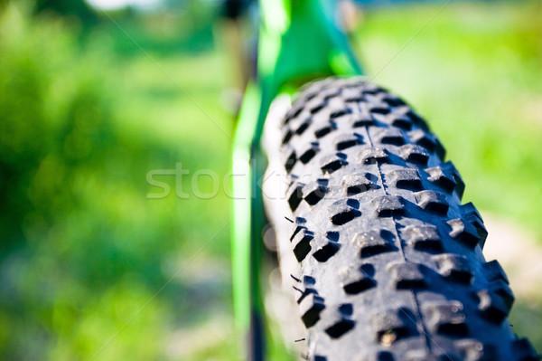 Mountain bike roda pormenor pronto sol Foto stock © blasbike