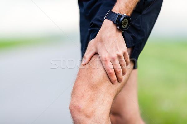 Runner been pijn opleiding spierpijn lopen Stockfoto © blasbike