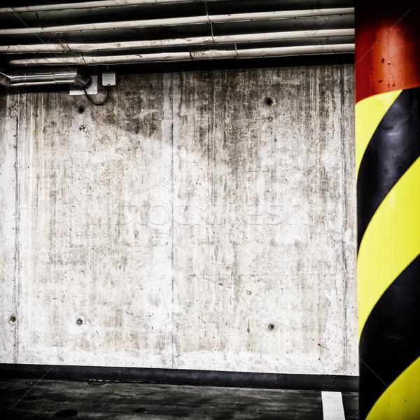 конкретные стены подземных интерьер стоянки гаража Сток-фото © blasbike