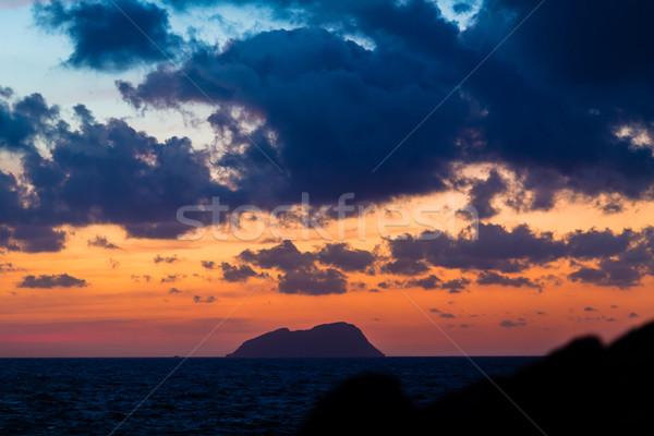 Scénique vue belle coucher du soleil inspiré Photo stock © blasbike