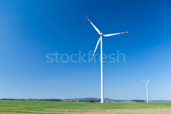 Wind turbine, alternative energy Stock photo © blasbike
