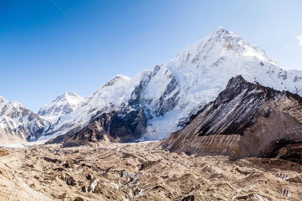 Dağlar everest manzara buzul park himalayalar Stok fotoğraf © blasbike