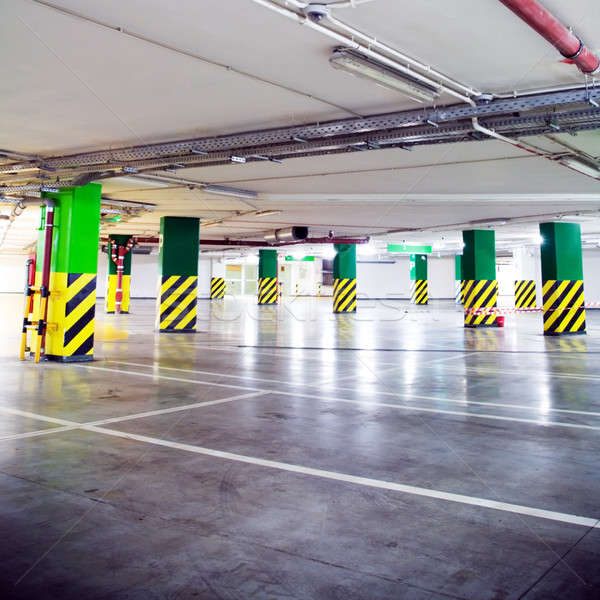 стоянки гаража Гранж подземных интерьер грязные Сток-фото © blasbike