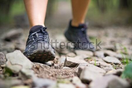 Trilha caminhada esportes sapatos natureza atravessar Foto stock © blasbike