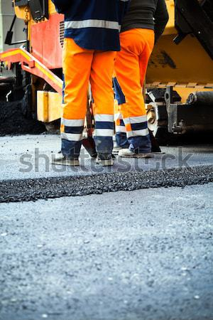 Road construction and workers Stock photo © blasbike