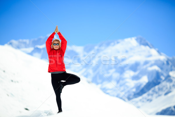 Freedom happy yoga meditation Stock photo © blasbike
