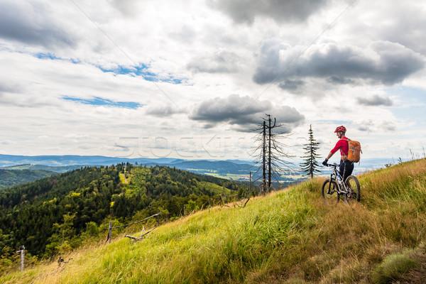 горные Велоспорт верховая езда лесу гор Сток-фото © blasbike