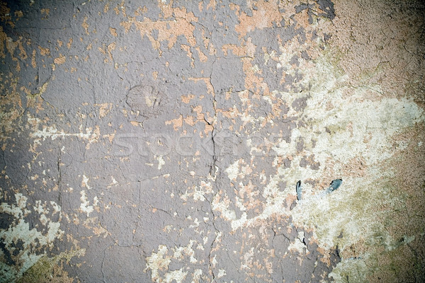Grunge wall with peeling paint, texture with vignette Stock photo © blasbike