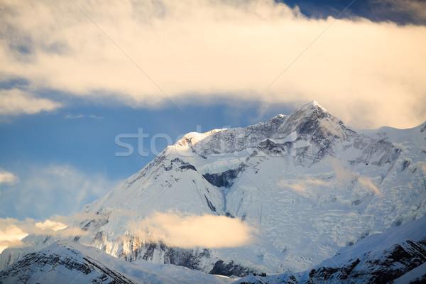 Montanha inspirado paisagem alcance Nepal himalaia Foto stock © blasbike