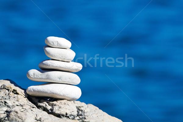 Saldo branco azul mar Foto stock © blasbike
