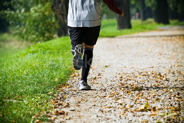 Running in park Stock photo © blasbike