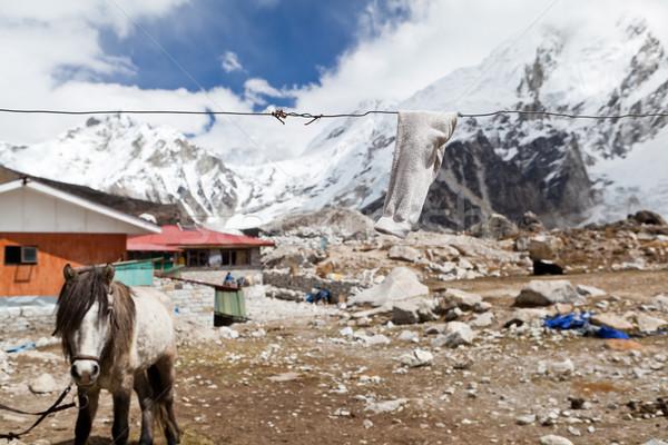 Montagna frazione Nepal himalaya montagna vicino Foto d'archivio © blasbike