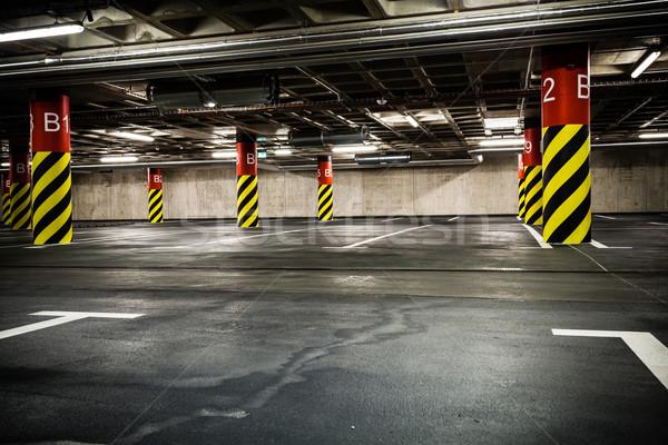 стоянки гаража подвал подземных интерьер ярко Сток-фото © blasbike