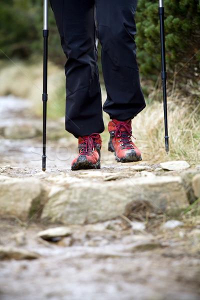Сток-фото: ходьбе · осень · гор · человека · обувь