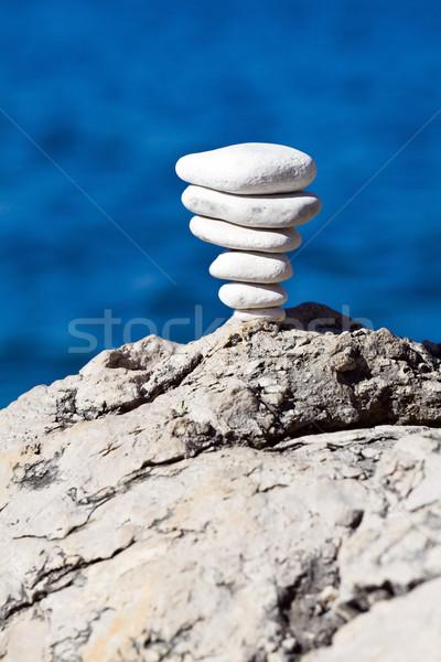 Stone stack balance Stock photo © blasbike