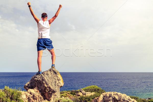 Сток-фото: счастливым · Runner · жизни · цель · успех · человека