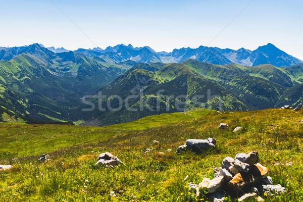 Góry krajobraz widoku lata Zdjęcia stock © blasbike