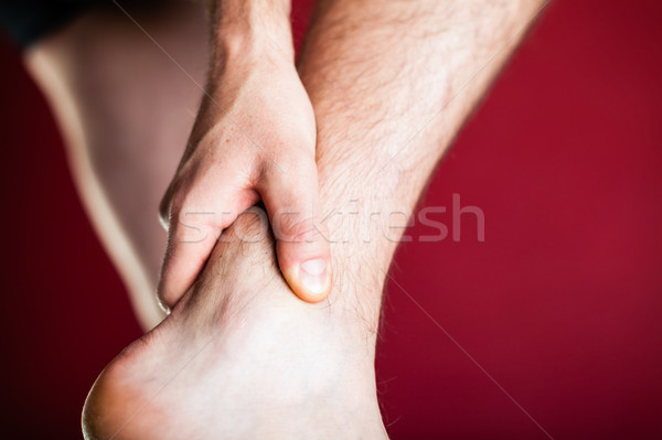 Running physical injury, leg pain Stock photo © blasbike