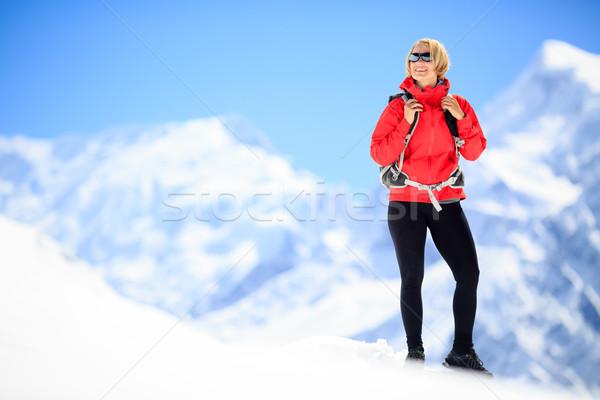女性 成功 肖像 小さな 幸せ ストックフォト © blasbike