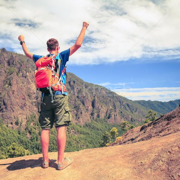 Foto stock: Caminante · corredor · éxito · motivación · senderismo · camino
