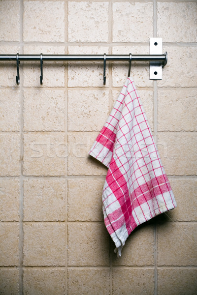 Kitchen, towel hanging alone Stock photo © blasbike