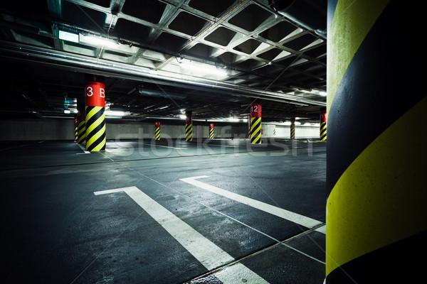 Parking garaż podziemnych wnętrza samochodu miasta Zdjęcia stock © blasbike