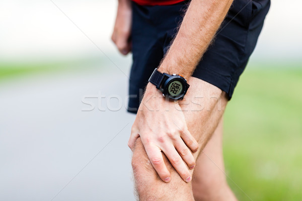 Running injury, knee pain Stock photo © blasbike