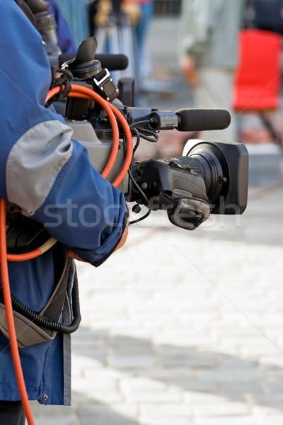 Kamera kezelő média élet műsorszórás televízió Stock fotó © blasbike