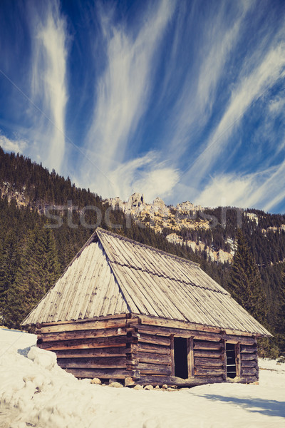 Mountains inspirational winter landscape, Tatras Stock photo © blasbike