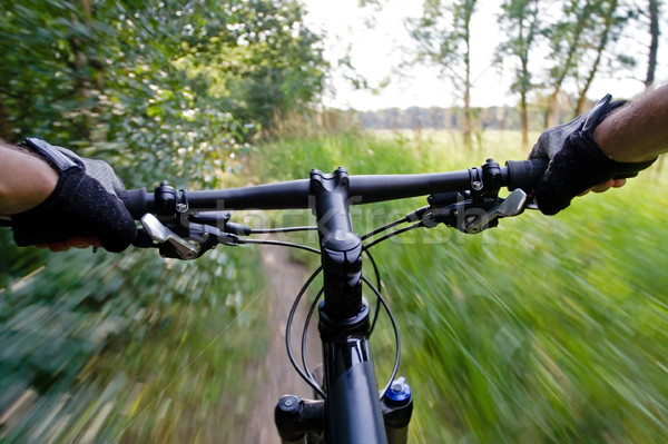 Riding mountain bike Stock photo © blasbike