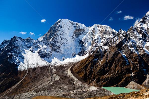 Ilham verici manzara dağ Nepal buzul Stok fotoğraf © blasbike