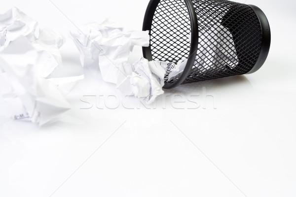 Trashcan with paper garbage Stock photo © blasbike