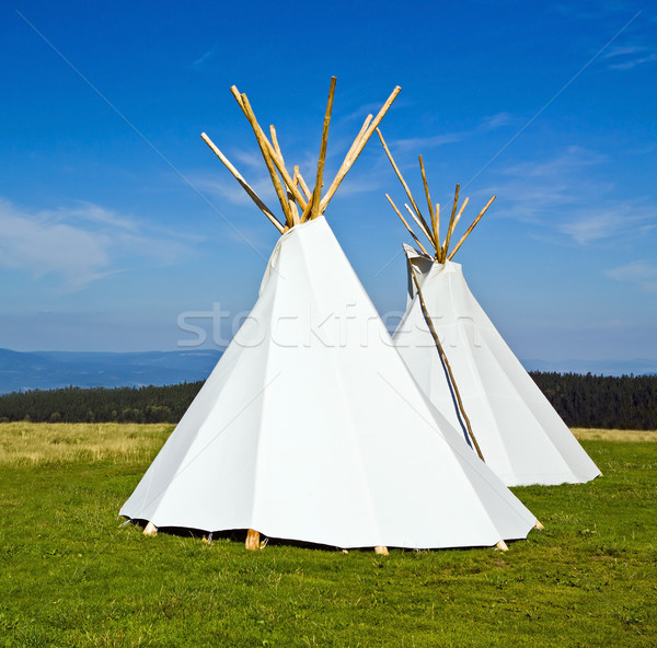 Native American teepee Stock photo © blasbike