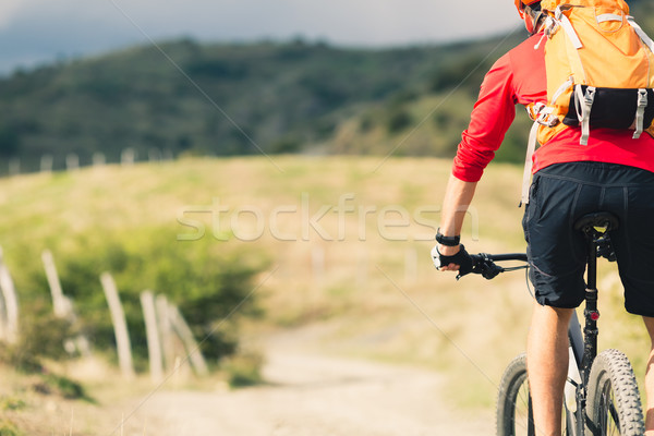 Mountain biker riding MTB Stock photo © blasbike