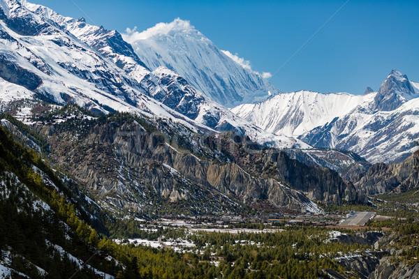 Inspirational Landscape Himalaya Mountains in Nepal Stock photo © blasbike