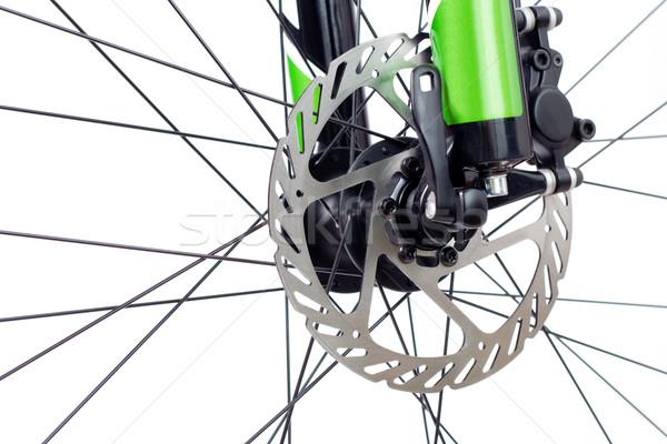 Hydraulic dics brake of mountain bicycle Stock photo © blasbike