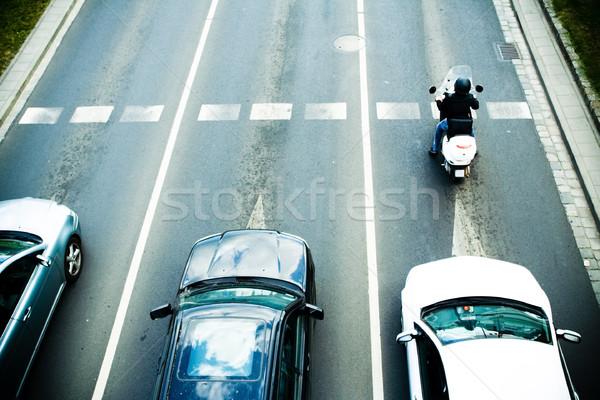 Korku ulicy miasta działalności samochodu miasta ciężarówka Zdjęcia stock © blasbike