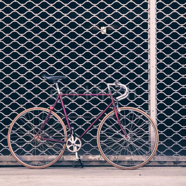 Drogowego rower konkretnych ściany urban scene vintage Zdjęcia stock © blasbike